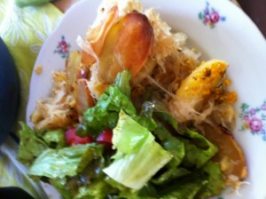 Erdäpfel-Sauerkraut-Auflauf