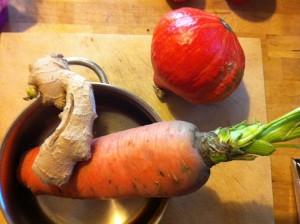 Große Karotte, Ingwer, Hokkaido