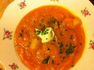 Kürbis-Karotten-Gemüse
