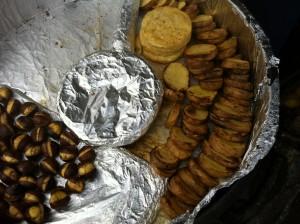 Maroni und Bratkartoffeln im Ofen