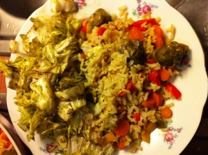 Reispfanne mit Salat